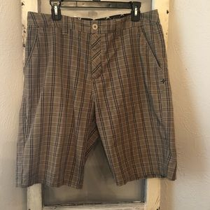 Men's Hurley Plaid Shorts Size 33